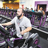 John P. Cleary |  The Herald Bulletin<br /> Mike Johnson, of Anderson, works out on an elliptical machine at Planet Fitness Anderson. Planet Fitness was voted best fitness facility in the THB Best Of voting.