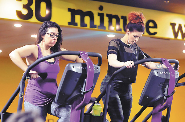 John P. Cleary |  The Herald Bulletin<br /> Shots of Planet Fitness Anderson, voted Best Fitness Facility.