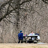 John P. Cleary |  The Herald Bulletin<br /> Under the baron trees of Mounds State Park these folks take advantage of the mid-60's temperatures of Presidents' Day to get out and have a picnic.