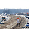 Don Knight | The Herald Bulletin<br /> Traffic travels on Interstate 69 between Pendleton and Anderson on Friday. The Indiana Department of Transportation is extending work on the adding of a third travel lane in each direction to just north of Exit 222, the first Anderson exit.