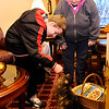 Don Knight | The Herald Bulletin<br /> Jeffery Eckelbarger pets Jesse as Danene Eckelbarger looks on. Battling sever health issues the Eckelbargers were looking for a new home for Jesse and family in Middletown stepped forward.