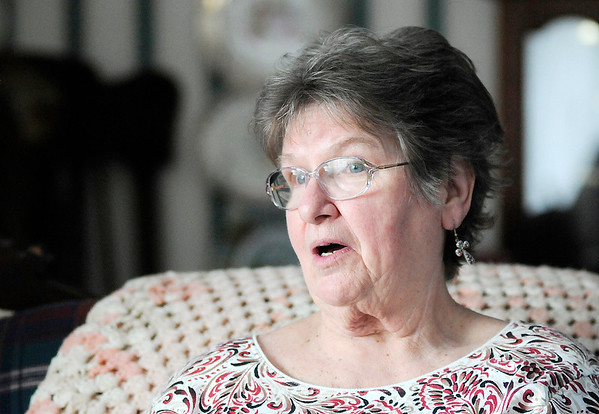 Don Knight | The Herald Bulletin<br /> Sharon Galbreath talks about how help from Visiting Angels makes it possible for to live at home after her stroke.