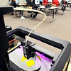 John P. Cleary |  The Herald Bulletin<br /> The MakerBot 3D printer makes parts for another project as Highland Middle School eighth-graders work in the Introduction to Engineering & Design class.