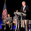 Don Knight | The Herald Bulletin<br /> Gov. Eric Holcomb addresses the crowd during the grand opening of Bridges of Hope on Saturday.