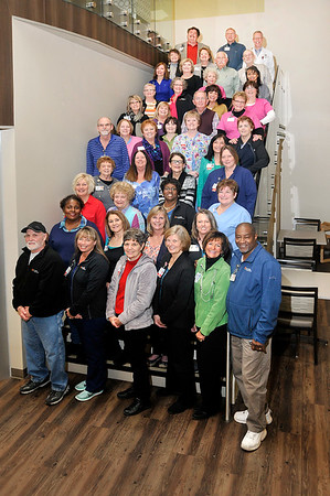 John P. Cleary |  The Herald Bulletin<br /> This group is part of the 92 employees of Community Hospital Anderson with 30 plus years of service. Community was voted best business to work for in the Best Of voting.