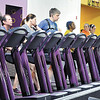 John P. Cleary |  The Herald Bulletin<br /> People workout on the treadmills at Planet Fitness Anderson, voted Best Fitness Facility in the THB Best Of voting.
