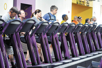 John P. Cleary |  The Herald Bulletin People workout on the treadmills at Planet Fitness Anderson, voted Best Fitness Facility in the THB Best Of voting.