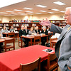 John P. Cleary |  The Herald Bulletin<br /> ACS Superintendent Terry Thompson gives his FIRST facilities improvement plan to the Madison County division of the Metropolitan Indianapolis Board of Realtors meeting at Anderson High School January 11th.