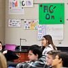 John P. Cleary |  The Herald Bulletin<br /> Posters hang on the wall in Andy McCammon's classroom where he teaches the agriculture class at Highland Middle School.