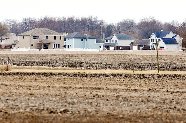 John P. Cleary |  The Herald Bulletin<br /> As lots are still for sale in the second phase of the Brookside division in Lapel a new development is proposed for 250 acres of farmland just south of the present development as seen in the view looking northeast.