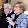 John P. Cleary | The Herald Bulletin<br /> Meredith and Betty Church, 95 and 94 respectively, talk about their 28 years of marriage.