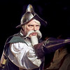 "Mark Maynard | for The Herald Bulletin<br /> Dr. Jay Wile is very convincing in his role as MIguel de Cervantes/Don Quixote/Alonso Quijana in ""Man of La Mancha"" presented by the Alley Theatre."