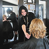 John P. Cleary | The Herald Bulletin<br /> Serendipity Hair Salon, in Pendleton, won Best Of hair salon. Here Rachele Martin puts the finishing touches on customer Beverly Clark.