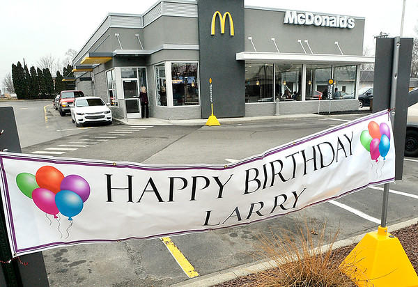 "John P. Cleary | The Herald Bulletin<br /> Larry ""The Can Man"" VanNess had his 71st birthday party at McDonald's at 111 W. 14th Street, Anderson Saturday afternoon."