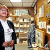 John P. Cleary | The Herald Bulletin<br /> Bonnie White-Collier works in the Black History Room of the Madison County Historical Society. White-Collier is the coordinator of the exhibits in the Black History Room for the Historical group.