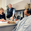 John P. Cleary | The Herald Bulletin<br /> Lessa Johnson, Anderson Police Department's Victim Assistance Unit coordinator, works closely with APD Chaplain Gary McCaslin and Christy Jones, who is also in victim assistance. Johnson is retiring after 27 years working in the Victim Assistance Unit, a unit she helped establish in 1991.