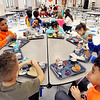 John P. Cleary | The Herald Bulletin<br /> These Anderson Elementary first and second graders enjoy their lunch time Wednesday in the school cafeteria. Lunch time at the school is one of 24  stories The Herald Bulletin covered Wednesday in their 24 Hours in Anderson project.
