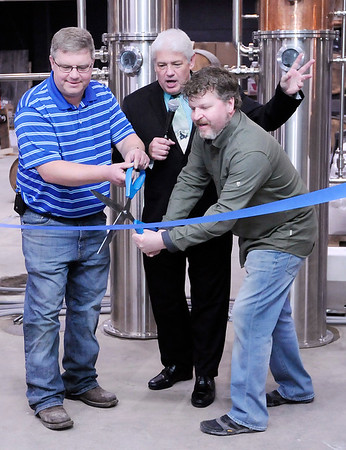 Don Knight | The Herald Bulletin<br /> Oakley Brothers Distillery held their grand opening on Tuesday.