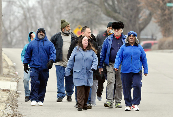 John P. Cleary | The Herald Bulletin<br /> A newly formed group working to end gun violence in the city hosted a walk through the west side Saturday to raise awareness. The Anderson Initiative Against Gun Violence walked from Jackson Park to the corner of 16th Street and Madison Avenue.