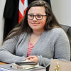 John P. Cleary | The Herald Bulletin<br /> Anderson High School senior Sarah Wardwell talks about school safety.
