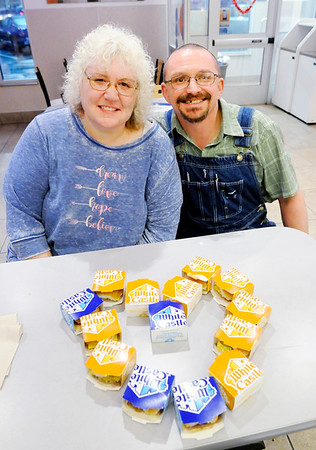 Don Knight | The Herald Bulletin<br /> For the past 10 years, Katreena and Jimmy Humphrey have been celebrating Valentines Day at White Castle for 10 years.