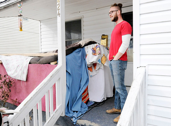 Don Knight | The Herald Bulletin<br /> When Tigh Conley saw the extreme cold forecast for Anderson he set up a makeshift shelter for feral cats on his front porch.
