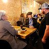 Don Knight | The Herald Bulletin<br /> Adam Croft talks to customers Randall and Lucetta Woodruff at The Stable in Pendleton.