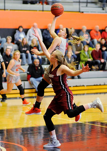 Don Knight | The Herald Bulletin Anderson University's Lexi Dellinger drives into the paint as the Ravens hosted Transylvania on Saturday.