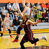 Don Knight | The Herald Bulletin<br /> Anderson University's Lexi Dellinger drives into the paint as the Ravens hosted Transylvania on Saturday.