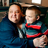 John P. Cleary | The Herald Bulletin<br /> Amber LeJeune, with her eight-year-old son Dylan, claims he was physically assaulted by three staff members of Frankton Elementary School.