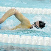 Don Knight | The Herald Bulletin<br /> Anderson's Carson Smitherman competes in the 500 freestyle during boys swimming sectional preliminaries at Hamilton Southeastern on Thursday.