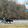 John P. Cleary | The Herald Bulletin<br /> It wasn't a bad day to get out and walk the dog around Shadyside Lake after the winds finally died down and the sun came out Monday even though the temperatures were still below normal.