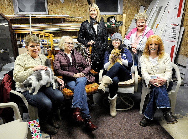 Don Knight | The Herald Bulletin<br /> Ambassadors for God's Creatures board members from left are Shannon Clark, Connie Harris, Susan Blake, April Reed, Cathy Garrison and Mitzi Martin. Also a board member but not pictured is Pam Roebling.