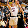 Don Knight | The Herald Bulletin<br /> Alexandria's Miller Abernathy shoots from the low post as the Tigers hosted the Madison-Grant Argylls on Saturday.