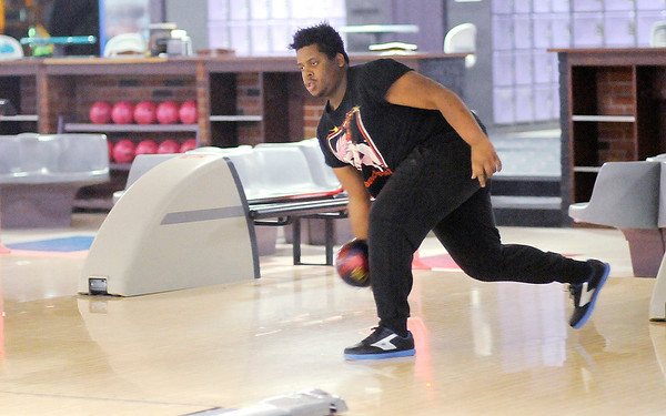 Don Knight | The Herald Bulletin<br /> Marquise Banks bowls at Championship Lanes on Tuesday. Banks started bowling at a young age and now bowls in a work league.
