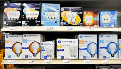 John P. Cleary | The Herald Bulletin The light bulb display at the Northgate True Value Hardware Store at 2400 Broadway in Anderson.