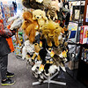 Don Knight | The Herald Bulletin<br /> Riley Fritcha, 10, checks out the puppets for sale at Gaither Family Resources in Alexandria.
