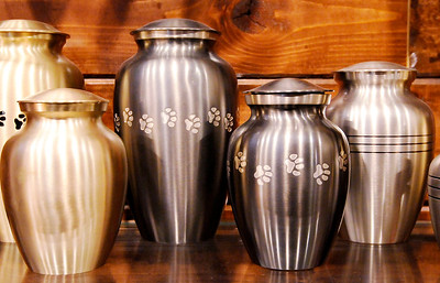 Don Knight | The Herald Bulletin Loyal and True, a pet cremation service offered by Loose Funeral home, has several urns to choose from for your pet.