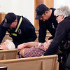 John P. Cleary | The Herald Bulletin<br /> Lapel and Edgewood police and fire departments hold  active shooter training at Lone Oak Wesleyan Church.