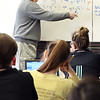 John P. Cleary | The Herald Bulletin<br /> Dual credit algebra class at Liberty Christian High School taught by Duane Wolfe of Ivy Tech Community College.