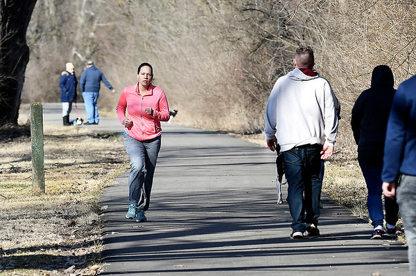 Whether taking a jog, walking the dog, or enjoying a leisurely stroll around Shadyside Lake, people took advantage of the warmer temperatures and abundant sunshine over the weekend to get outdoors and enjoy both.
