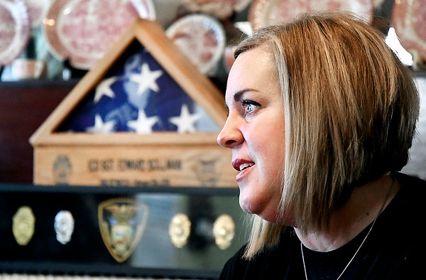 Belinda Bollman talks about her late husband, Indiana Conservation Officer Sgt. Ed Bollman, who died two years ago while attempting to save his friend Roger Chezem while ice fishing.