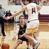 Daleville's Connor Fleming gets rid of the ball as the Alexandria defense collapsed on him.