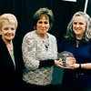 Senior volunteer of the year<br /> Judy Musick received the RSVP award from Kim Rogers-Hatfield, right, and Georgeann Whitworth, left.