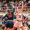 The Eagles Ava Gardner goes in for a layup at the start of the second quarter during the semi-state championship game against South Central on Saturday night.