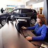There is so much online resources for the potential car buyer to educate themselves on what they're looking for as well as resources for the salesperson to help their customers find the perfect match, like here with Autoworld sales associate Lindy Burgan getting information the customer is asking about.