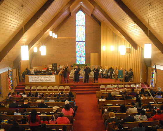 Hundreds of people attended the Dr. Martin Luther King, Jr. Service held Sunday at the Sherman Street Church of God.