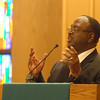Sherman Street Church of God pastor Ragen Mitchell speaks at the Dr. Martin Luther King, Jr. Service.