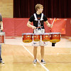 Members of Frankton's drum line perform as the Eagles hosted the Lapel Bulldogs on Tuesday.