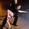 Suzanne Daoust dances the Mambo with Scott Shook during the 5th Annual Dancing Like the Stars competition at the Paramount on Saturday.